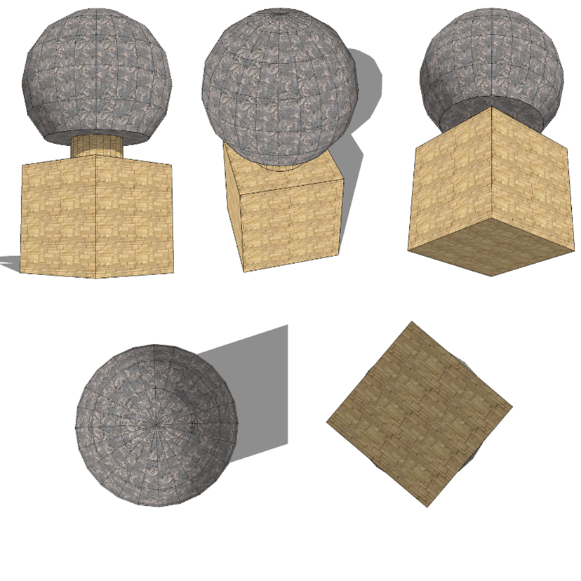 3D object from different angles