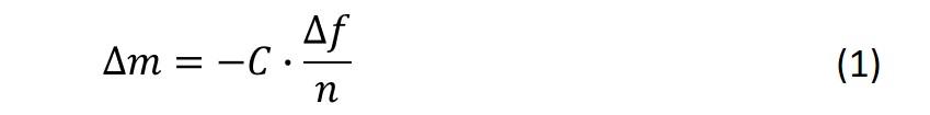The Sauerbrey equation